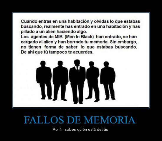 FALLOS DE MEMORIA