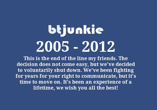 btjunkie 2005 -> 2012